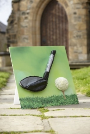 Golf Club and Tee Shared Memory Tribute