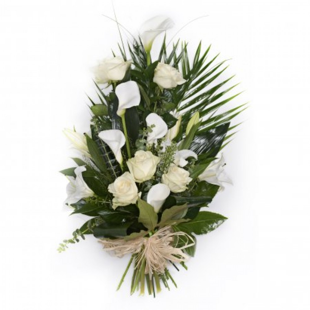 Funeral flowers by buttercups and daisies order flowers online funeral hearts are available in a range of sizes and colours usually with white base the flower bump and ribbon can be in requested in any colours izmirmasajfo